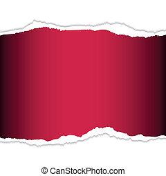 traan, papier, rood