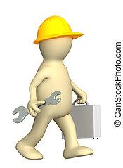 trabajador, 3d