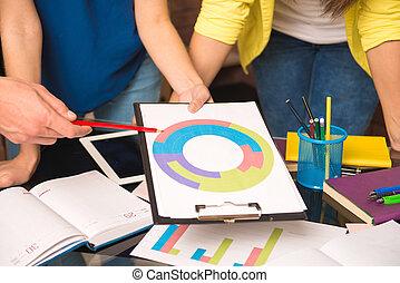 trabajador, actuación, proyecto, foto, primer plano, empresa...