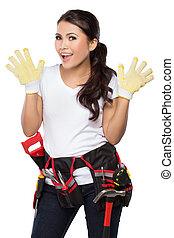 trabajador construcción, hembra