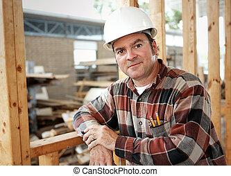 trabajador construcción, ocio