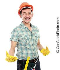 trabajador, feliz
