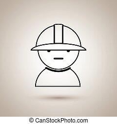 trabajador industrial, diseño