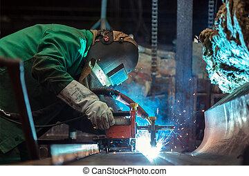 trabajador industrial, fábrica
