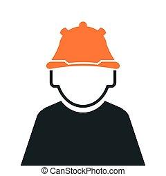 trabajador industrial, icono