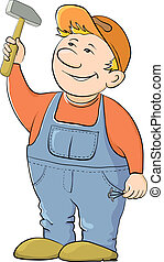 trabajador, martillo