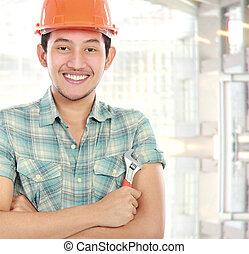 trabajador, retrato