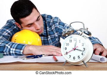 trabajadores, dormir la siesta