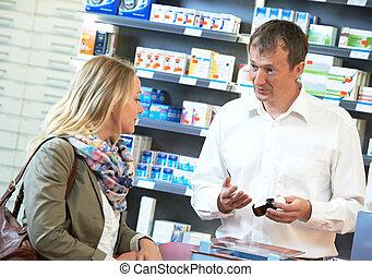 trabajadores, farmacia, químico, farmacia
