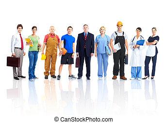 trabajadores, gente