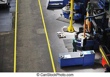 trabajadores, las personas presente, fábrica