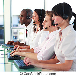 trabajando, bien, businessteam, juntos