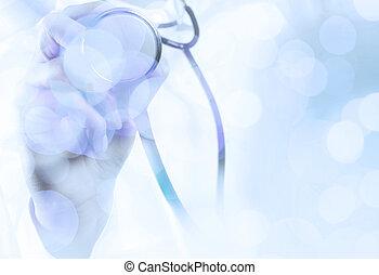 trabajando, elegante, médico médico, éxito, abs, exposición ...