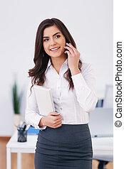trabajando, mujer de negocios