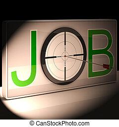 trabajo, blanco, exposiciones, trabajo, y, carrera, vocación