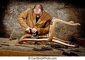 trabajo, carpintero