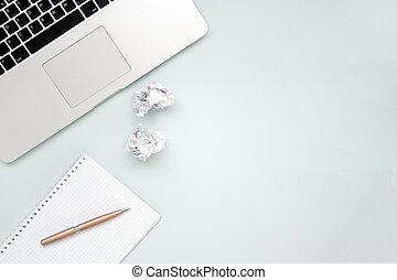 trabajo, concepto, creatividad, espacio, copia