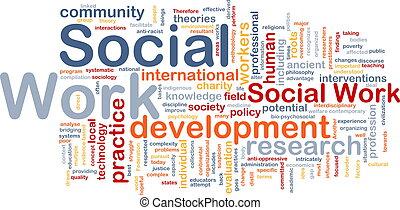 trabajo, concepto, plano de fondo, social