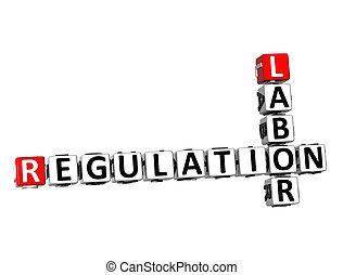 trabajo, crucigrama, regulación, plano de fondo, blanco, 3d