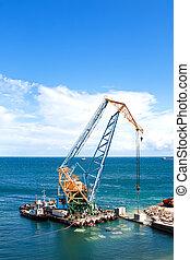 trabajo de construcción, puerto