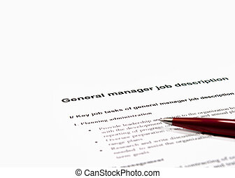 trabajo, director, descripción, general