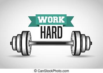 trabajo duro, en el gimnasio