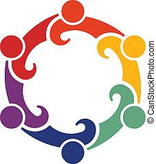trabajo en equipo, convención, 6., vector
