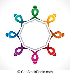 trabajo en equipo, creativo, diseño, icono