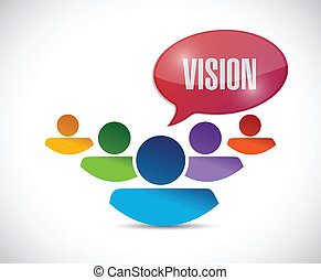 trabajo en equipo, diseño, visión, ilustración
