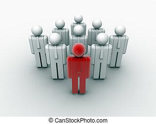 trabajo en equipo, líder