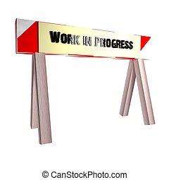 trabajo, en, progreso