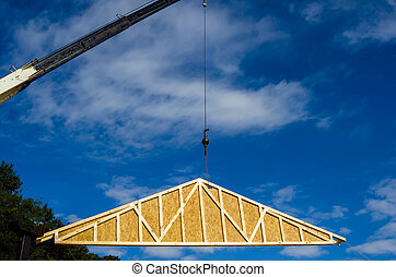 trabajo, grúa construcción, sitio