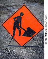 trabajo, hombres, señal