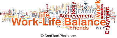 trabajo, ?life, balance, plano de fondo, concepto