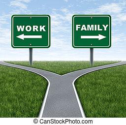 trabajo, o, familia
