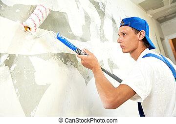 trabajo, prima, pintor, renovación casera