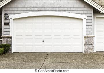 trabajo, puerta, pintura, garaje, marco, nuevo