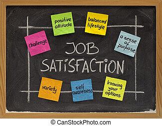 trabajo, satisfacción, concepto