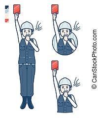 trabajo, simple, man_red-card, medio, uso