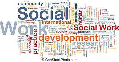 trabajo social, plano de fondo, concepto