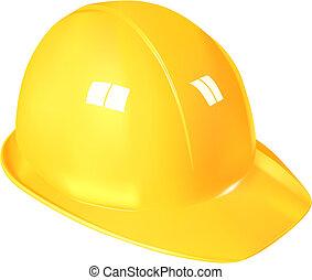 trabajo, sombrero