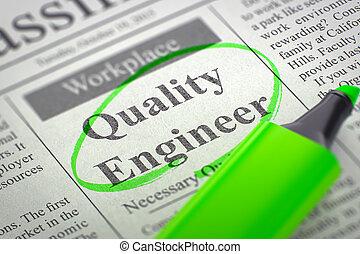 trabajo, vacancy., calidad, 3d., ingeniero