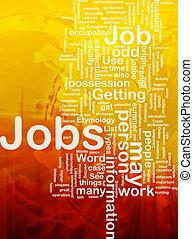 trabajos, concepto, empleo, plano de fondo
