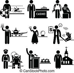trabajos, especial, carreras, ocupaciones