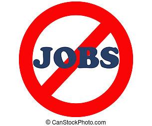 trabajos, no, empleo, trabajo