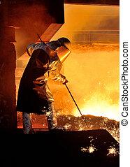trabalhador aço