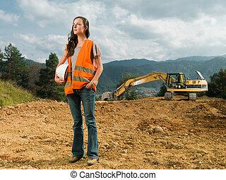 trabalhador construção, femininas
