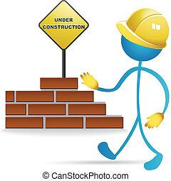 trabalhador construção, vetorial