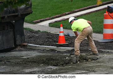 trabalhador estrada