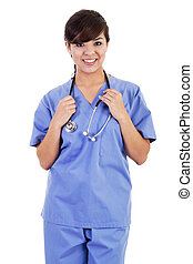 trabalhador, femininas, cuidados de saúde